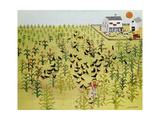 Bird Field Giclee Print by Kristin Nelson