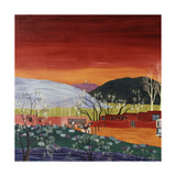 Galisteo New Mexico (Left) Giclee Print by Kristin Nelson
