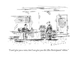 """""""I can't give you a raise, but I can give you this 'Also Participated' rib…"""" - New Yorker Cartoon Premium Giclee Print by Barbara Smaller"""
