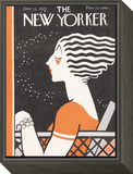 The New Yorker Cover - June 13, 1925 Framed Print Mount by Barbara Shermund