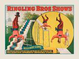 Hand Standing Acrobat Poster by  USPS