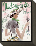 Mademoiselle Cover - July 1936 Framed Print Mount by Helen Jameson Hall