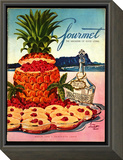 Gourmet Cover - March 1950 Framed Print Mount by Henry Stahlhut