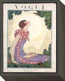 Vogue Cover - June 1925 Framed Print Mount by Georges Lepape