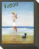 Vogue Cover - July 1937 Framed Print Mount by Eduardo Garcia Benito
