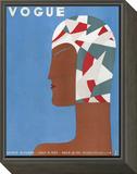 Vogue Cover - July 1929 Framed Print Mount by Eduardo Garcia Benito
