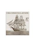 USS Constellation Art by  USPS
