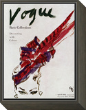 "Vogue Cover - April 1946 Framed Print Mount by Carl ""Eric"" Erickson"