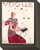 Vogue Cover - February 1924 Framed Print Mount by Eduardo Garcia Benito