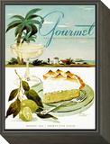 Gourmet Cover - August 1944 Framed Print Mount by Henry Stahlhut