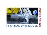First Man Moon Prints by  USPS