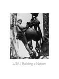 Man On Hoist Ball Prints by  USPS