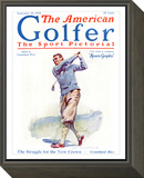 The American Golfer September 20, 1924 Framed Print Mount by James Montgomery Flagg