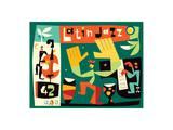 Latin Jazz Konst av  USPS