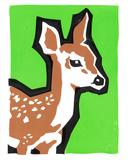 Deer Baby Serigraph by  Print Mafia