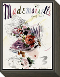 Mademoiselle Cover - April 1936 Framed Print Mount by Helen Jameson Hall
