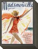 Mademoiselle Cover - June 1936 Framed Print Mount by Helen Jameson Hall