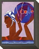 Vogue Cover - June 1927 Framed Print Mount by Eduardo Garcia Benito