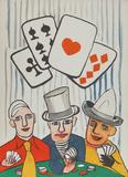 Three Card Players Reproductions de collection par Alexander Calder