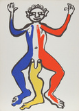 Derrier le Miroir (Acrobat (Blue, Yellow, Red)) Reproductions de collection par Alexander Calder