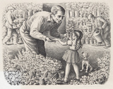 Caroselli– Blumenstand Sammlerdruck von Lionel S. Reiss
