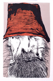 Untitled - Man with Red Hat Collectable Print by Leonard Baskin