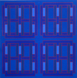 Untitled (Four Squares within Four Squares) Edición limitada por Peter Stroud