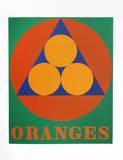 Robert Indiana - Oranges (from the American Dream Portfolio) - Serigrafi