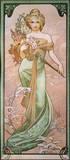 Primavera II Lámina giclée de primera calidad por Alphonse Mucha