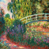 Japanische Brücke Giclée-Premiumdruck von Claude Monet