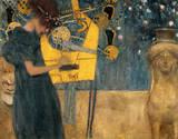 Die Musik Premium giclée print van Gustav Klimt