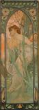 Alphonse Mucha - Večer Speciální digitálně vytištěná reprodukce