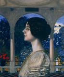 Weibliches Portrait Gicléetryck på högkvalitetspapper av Franz von Stuck