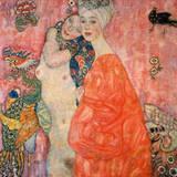 Gustav Klimt - Die Freundinnen - Birinci Sınıf Giclee Baskı