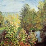Coin du jardin Reproduction giclée Premium par Claude Monet