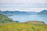 Landschaft Am Genfer See Gicléetryck på högkvalitetspapper av Ferdinand Hodler