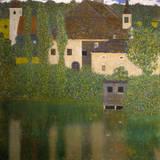 Schlosskammer Am Attersee Premium giclée print van Gustav Klimt