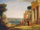 Dido und Aeneas Premium Giclee Print by Claude Lorrain