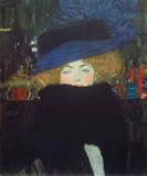 Gustav Klimt - Bildnis Einer Frau mit Hut Und Speciální digitálně vytištěná reprodukce