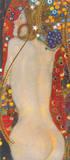 Wasserschlangen IV Giclee-tryk i høj kvalitet af Gustav Klimt