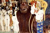 Die Feindlichen Gewalten Premium Giclee Print by Gustav Klimt