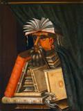 The Bookseller Giclee-tryk i høj kvalitet af Giuseppe Arcimboldo