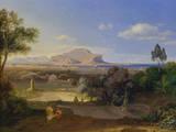 Palermo mit Monte Pellegrini Premium Giclee Print by Carl Rottmann