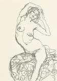 Weiblicher Akt Lámina giclée premium por Gustav Klimt