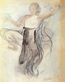 Cambodian Dancer Giclee-tryk i høj kvalitet af Auguste Rodin