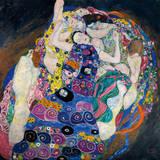 Die Jungfrau Giclée-Premiumdruck von Gustav Klimt
