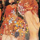 Wasserschlangen Giclée-Premiumdruck von Gustav Klimt