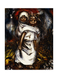 Girl Mother; Nina Madre, 1936 Gicléetryck av David Alfaro Siqueiros