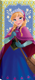Disney Frozen - Anna Panel Green Blue Canvas Stretched Canvas Print