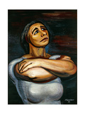 Portrait of Isabel Carvajal; Restrato De Isbel Carvajal, 1954 Giclee Print by David Alfaro Siqueiros
